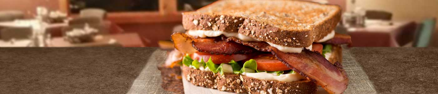 Bacon, lettuce, and tomato sandwich