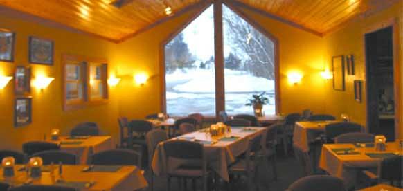 The diningroom at the Olde Cedar Inn